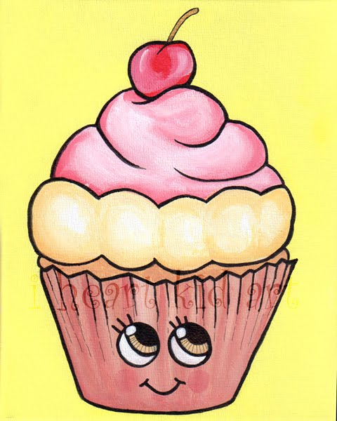 Cute cupcake drawings images for Cute muffin drawing