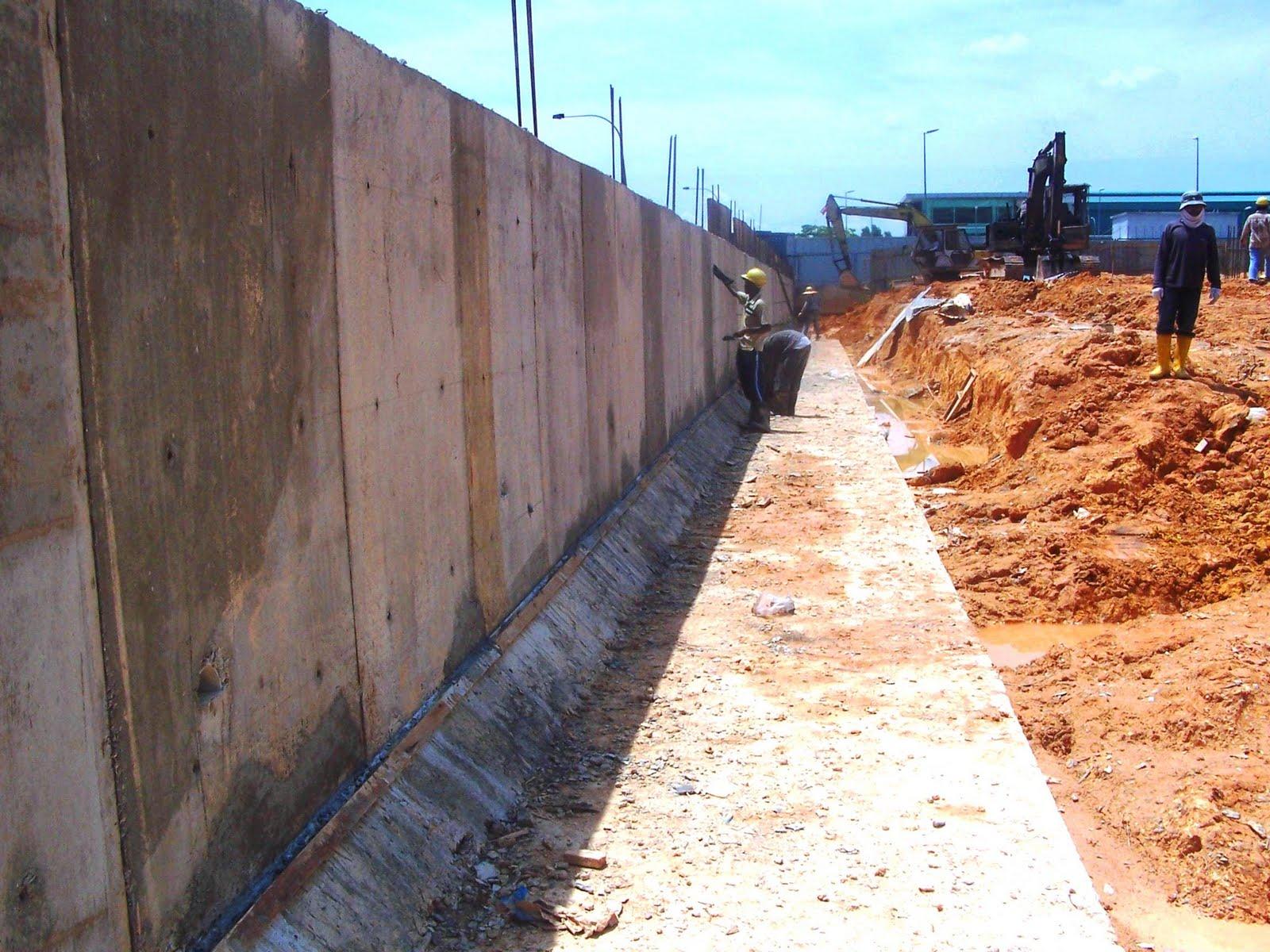 Rc Retaining Walls : Site bukit jelutong retaining wall