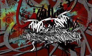 graffiti tribal brown