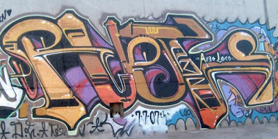 graffiti alphabets light brown, graffiti art