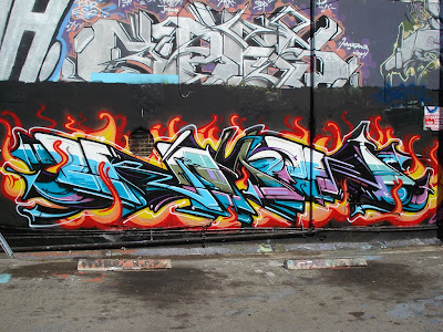 art graffiti alphabets street full of fire