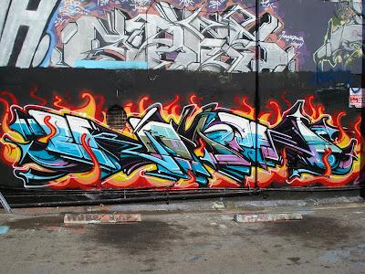 art graffiti alphabets street full of fire