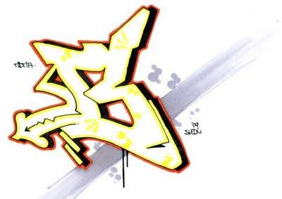 art letter B #3