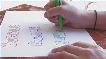 Draw Bubble Letters 1