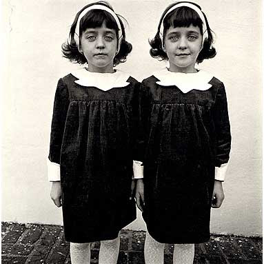 diane arbus identical twins essay Diane arbus became the first photographer to have her work  diane arbus with her photograph identical twins,  patricia and phillip frost essay award.