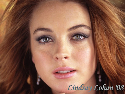 Lindsay Lohan face Wallpaper