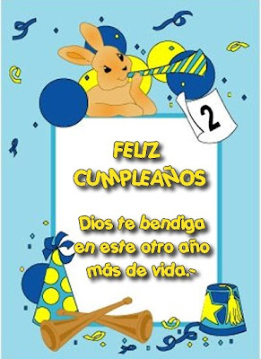 Tarjeta de Feliz Cumpleaos II | Separadores Cristianos