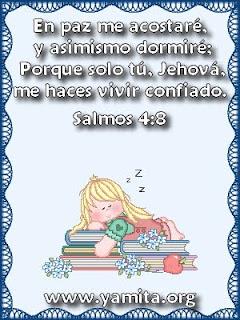 En paz me acostare y asimismo dormire tarjetas cristianas for En paz me acostare