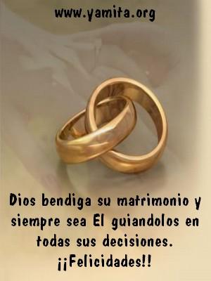 Dios bendiga su matrimonio y siempre sea El guiandolos