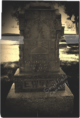 Ewing headstone photograph for Search Shootout
