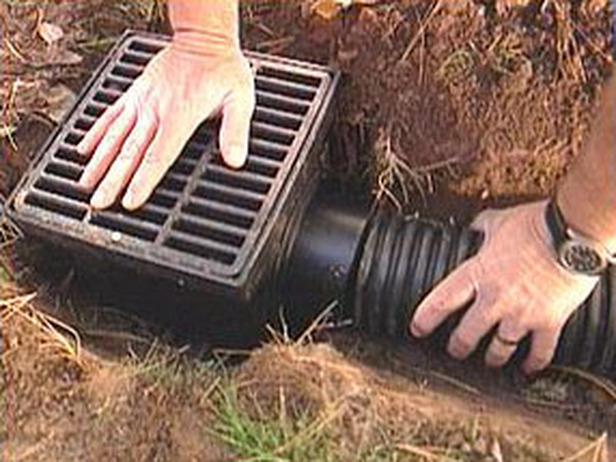 Cmg sprinklers and drains drainage solutions french for Outdoor ground drains