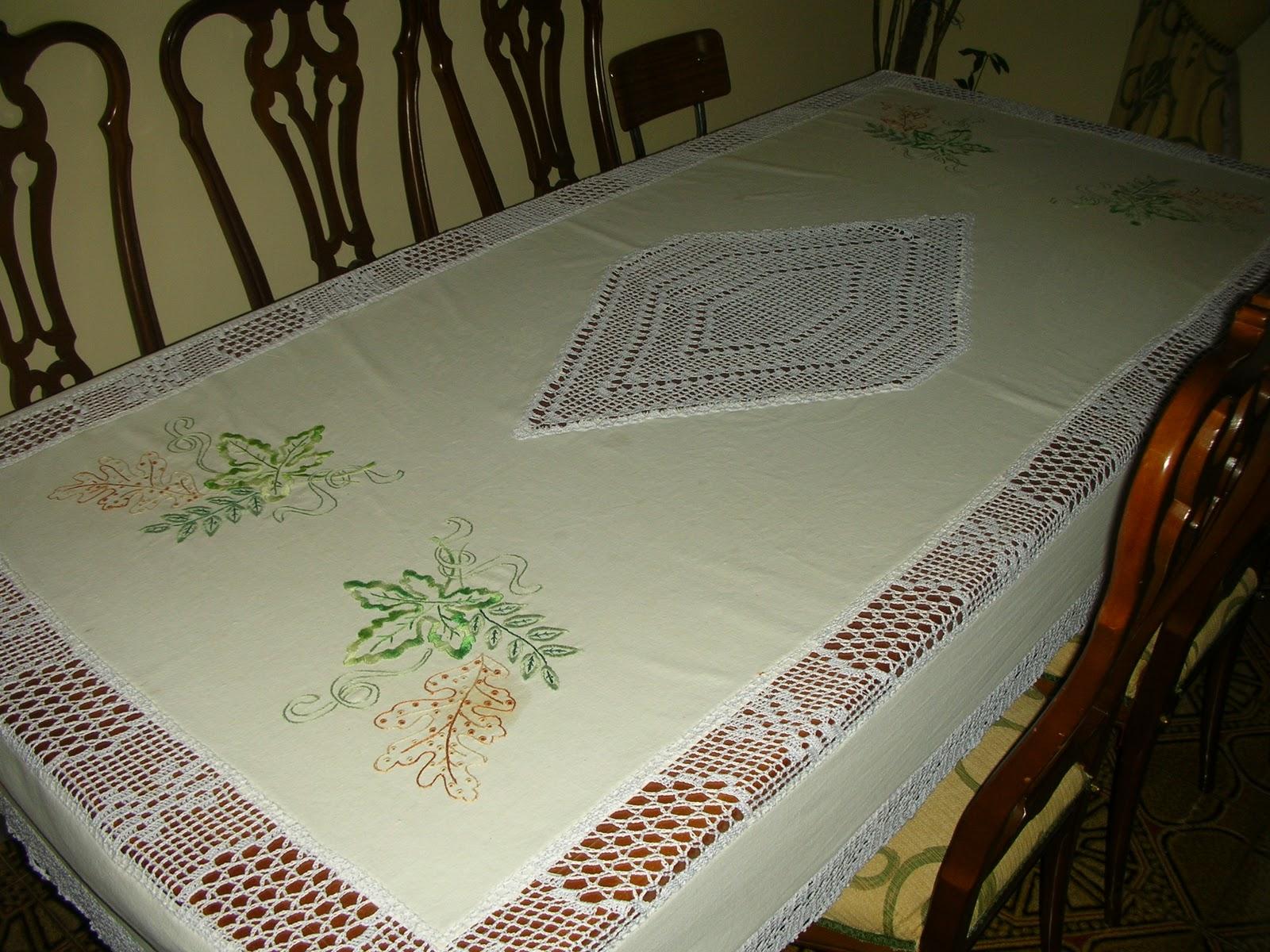 Bordados y puntillas hechos a mano mantel modelo vid - Puntillas para sabanas ...