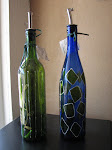 Hand Painted Glass Bottle