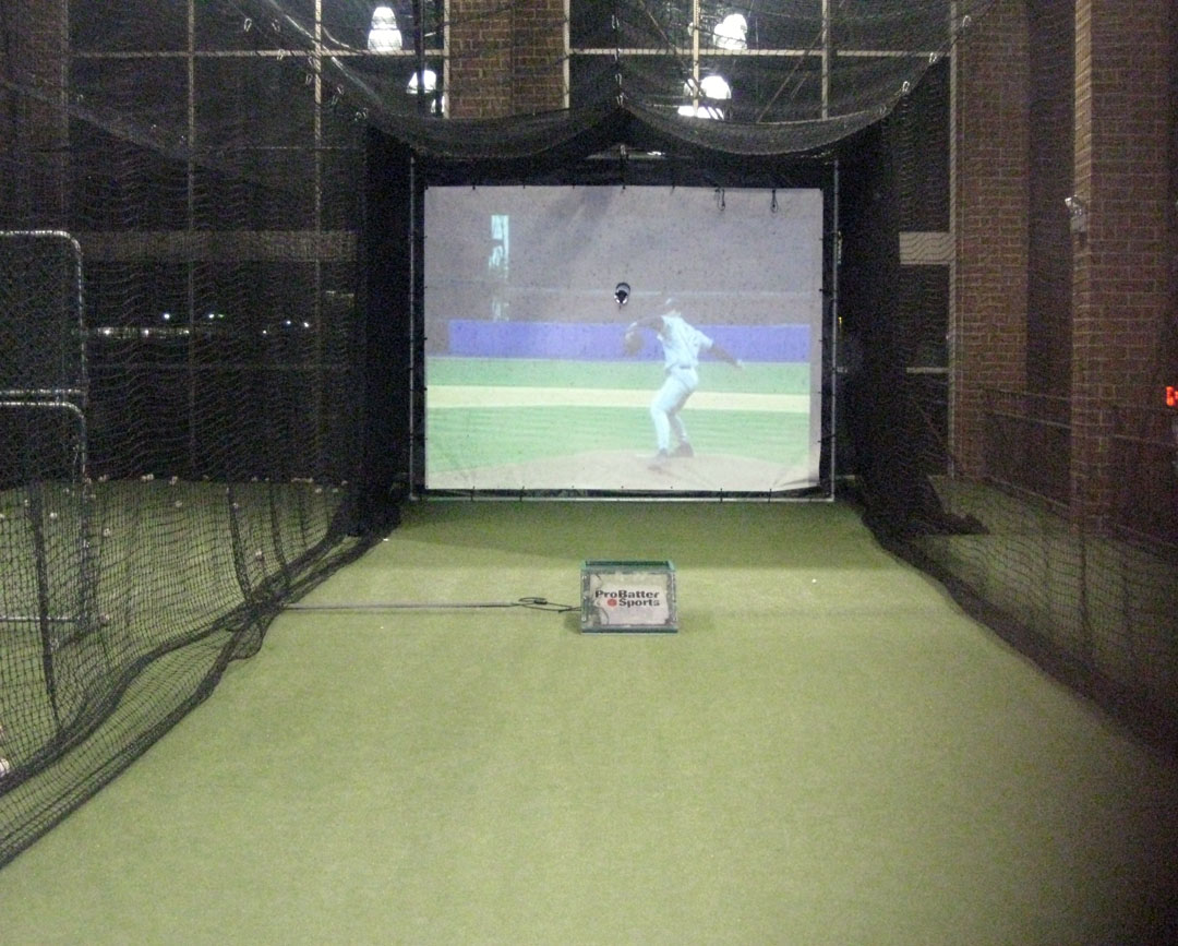 home indoor batting cages along with the indoor infield