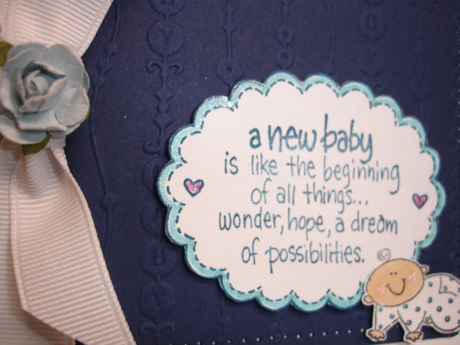 Crafting Memories: New Baby - Pop Up Gift Card Holder