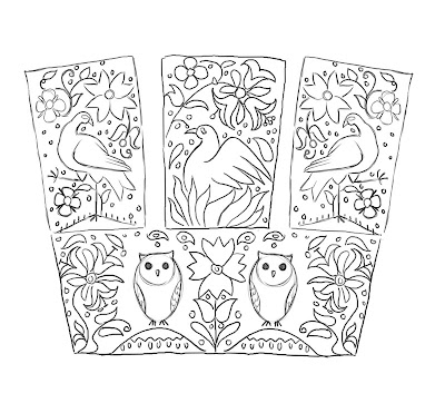 Lauren Reeser Elizabethan Embroidery Pattern Of Insanity
