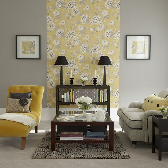 A chi chi affair living room mood board for Yellow and grey living room ideas