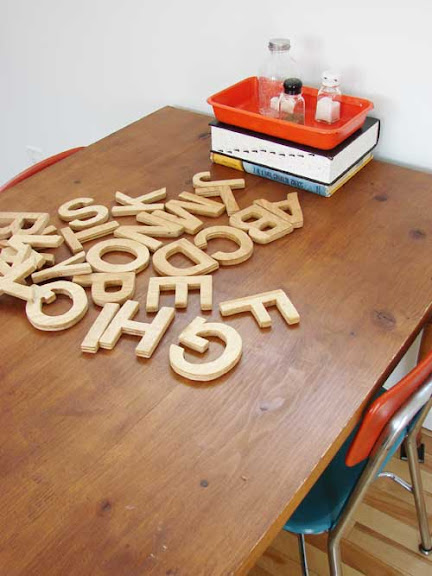 handmade wooden letters
