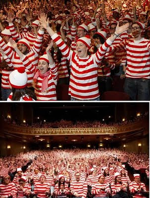 World Record for the largest gathering of people dressed as Waldo