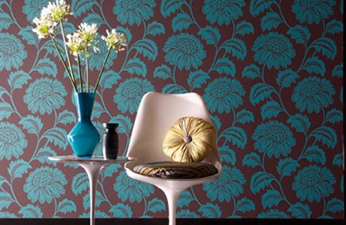Homeandstories vintage or modern retro for Interior decoration wallpaper design