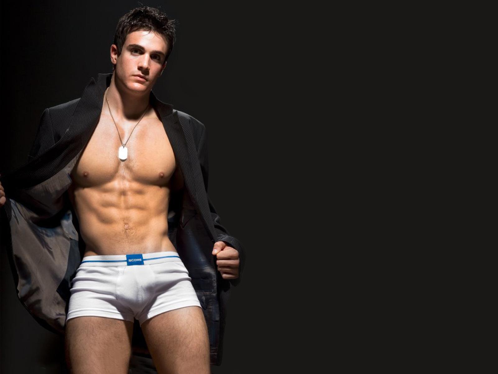 gay men in lingerie