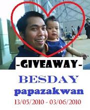 GIVEAWAY : Besday PapaZakwan