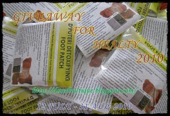 GIVEAWAY FOR HEALTY 2010