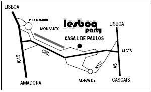 Mapa Lesboa Party - Carnaval