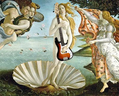 The goddess of love has a side gig as bassist for the Smashing Pumpkins.