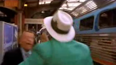 ... ripping off Robert Stack's entrance scene from 'Airplane!'