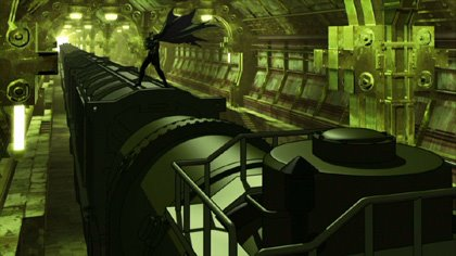 Batman attempts to master Soweto's most dangerous extreme sport, trainsurfing, in 'Batman: Gotham Knight.'