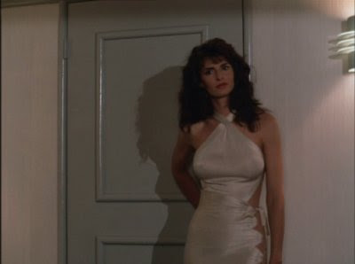 Joan Severance, who has nothing to do with the movie Severance, steams up the Profitt arc of Wiseguy.