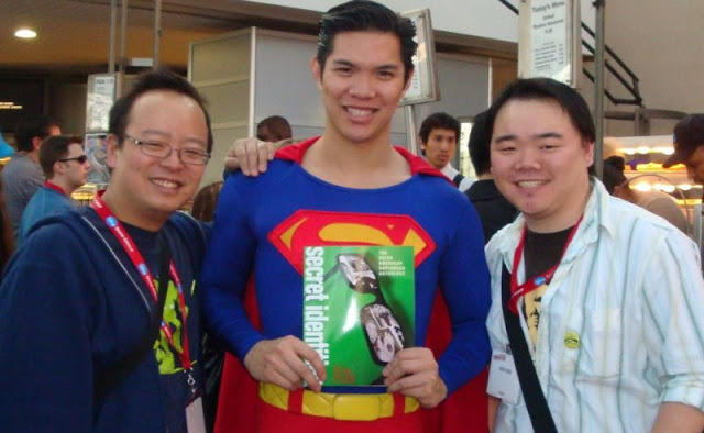 Jeff Yang, Asian Superman and Keith Chow. Photo courtesy of Chow.