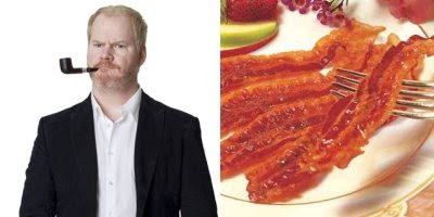 Jim Gaffigan (l.) and the most beautiful thing on Earth (r.)