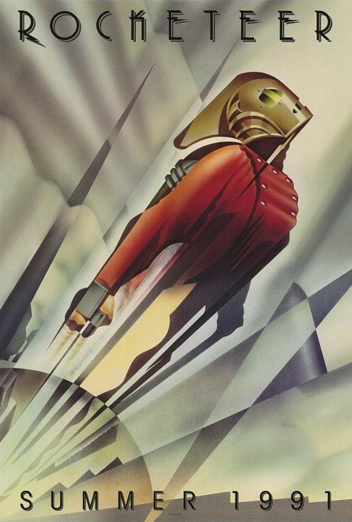John Mattos' advance poster for The Rocketeer is my favorite advance movie poster.