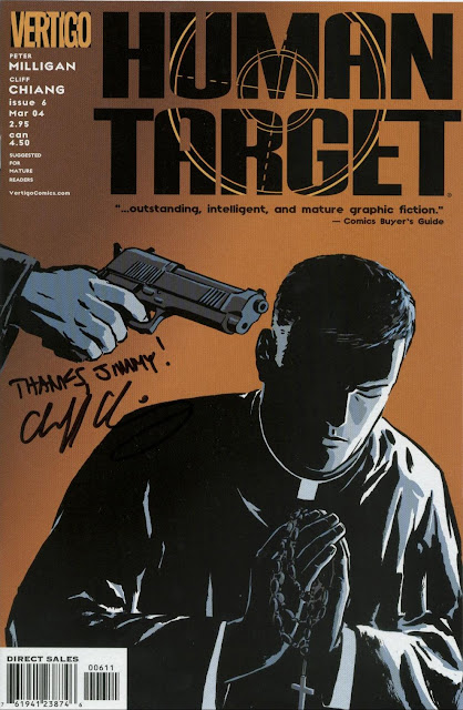 Human Target #6, autographed by Cliff Chiang for Jimmy J. Aquino