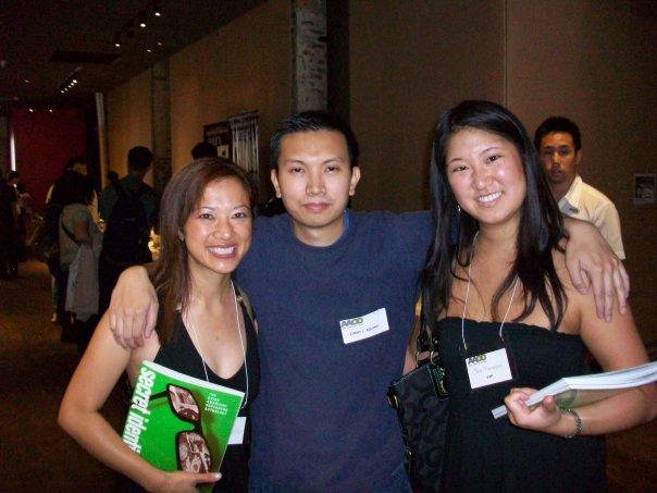 Kate Agathon, Jimmy J. Aquino and Lisa Hanasono