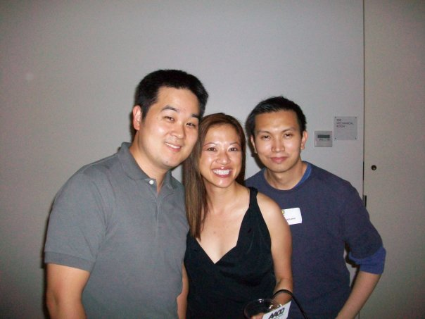 Tak Toyoshima, Kate Agathon and Jimmy J. Aquino. Photo courtesy of Kate.