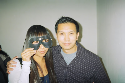 A masked admirer and Jimmy J. Aquino. Photo courtesy of JJA.