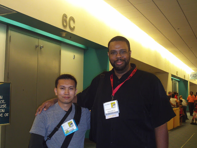 Jimmy J. Aquino and Dwayne McDuffie. Photo courtesy of JJA.