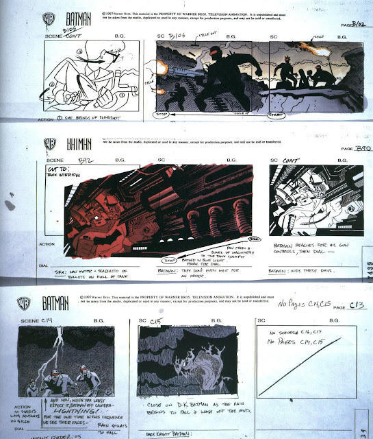 Batman: The Animated Series' 'Legends of the Dark Knight' storyboards by Darwyn Cooke and Glen Murakami