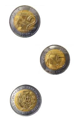 Nuevas monedas de 2 y 5 Nuevos Soles