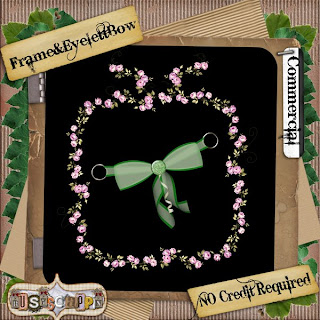 Frame, Eyelet & Bow - BY: BusyScrappin Folder