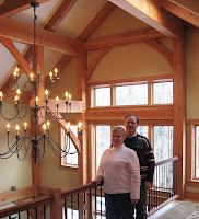 York Maine timber frame home