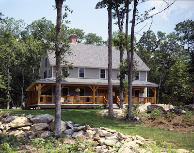 timber frame farmhouse
