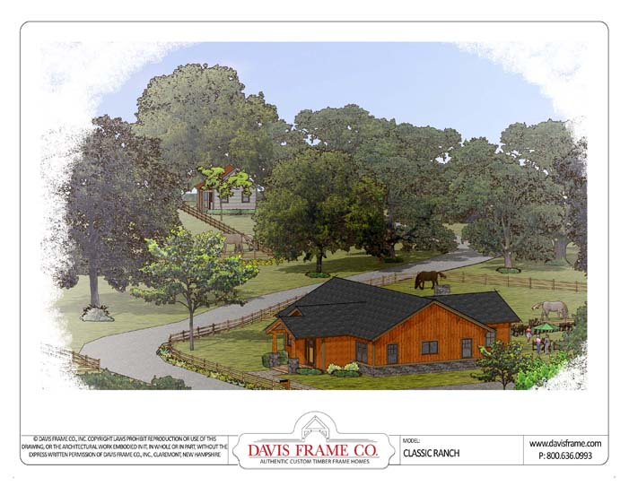 Home building plans ranch house plans home designs for Ranch style timber frame homes