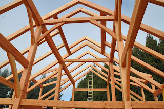 wine country timber frame raising