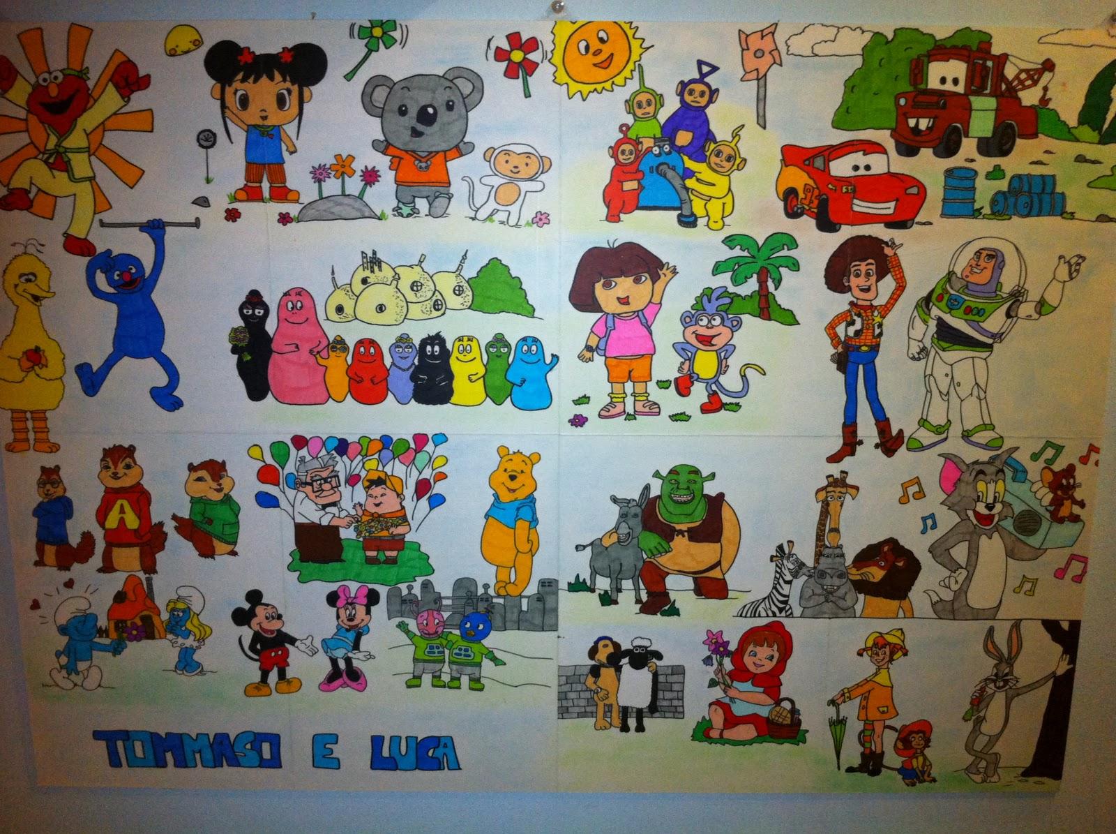 Bambini golosi disegni di cartoni animati per i miei
