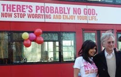 Richard Dawkins No God bus campaign London