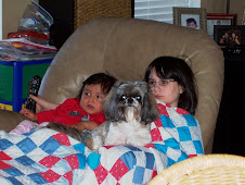 T.V. time with Sis and the Dog